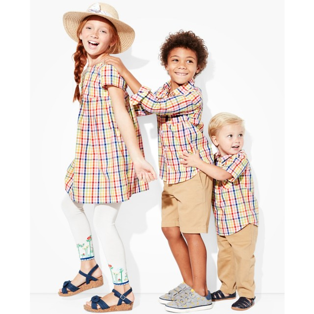 Toddler Basketweave Plaid Buttonfront Shirt by Hanna Andersson