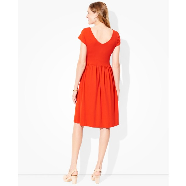 Women Double V Jersey Dress by Hanna Andersson