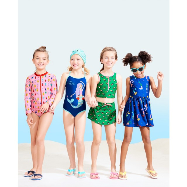 Girls Slipover Swim Dress by Hanna Andersson
