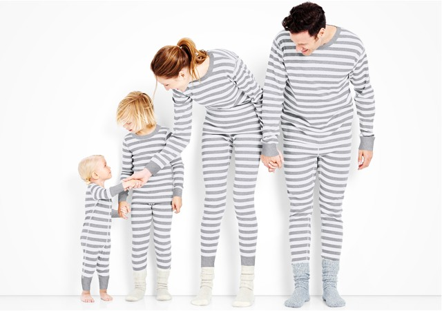 classic stripes in heather grey; pure and soft in organic cotton