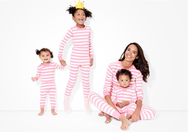 classic stripes in adventure pink; pure and soft in organic cotton