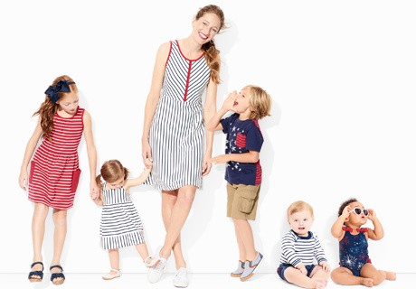 red white blue; classic colors of summer in comfy faves that bring everyone together