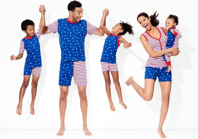 red white blue collection; pure and soft in organic cotton